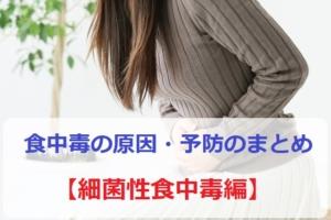 食中毒の原因と予防のまとめ【細菌性食中毒編】